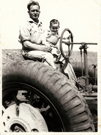 Howard and Allen Gilliam on tractor